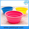 2016 Hot Portable Colorful Collapsible Dog Bowl with Hole