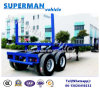 Flatbed 2 Axle Cargo Drawbar Full Semi Truck Trailer/ Dolly Trailer