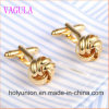 VAGULA Gemelos Men French Shirt Knot Brass Cuff Links 352