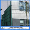 2.5m High Polyethylene Powder Coated Double Wire Mesh Fencing
