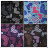 600d Oxford Hearts Printing Polyester Fabric with PVC