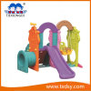 Professional Indoor Kids Plastic Toy Slide with Swing