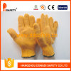 Ddsafety 2017 Heavy Weight Orange String Knitted PVC Honey Comb Pattern Both Sides Work Glove