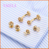 VAGULA Fashion Gold Plated Gemelos Wedding Cuffling Set