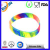 Colorful Promotional Gifts, Swirl Debossed Silicone Bracelet/Silicone Wristband