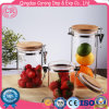 Transparent Glass Storage Jar with Stainless Steel Clip Top