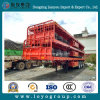 Semi Trailer 3 Axle 30-35 Ton Low Flatbed Container Transport