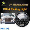 DOT Parking Light 10000 Lumen 7 Inch LED Headlight Wrangler Land Cruiser