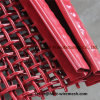Squre Wire Mesh with Hook, Red Color Crimped Wire Mesh with Hook