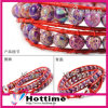 2013 New DIY Health Ion Energy High Quality Leather Bracelets