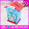 2015 Latest Kids Wooden Money Box, Fashion Colorized Welcome Home Wooden Money Box, Wholesale Wooden Money Box Toy W02A028
