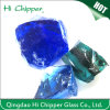 Blue Crushed Colored Glass Gravel for Garden Ornaments