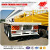 High Quality 12 Tires Flatbed Container Chassis Semi Trailer