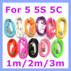 Colorful 8 Pin Lightning Cable for iPhone 5 5s 5c iPad 4 iPad Mini USB Data Charging Cable Cord (Round)