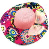 Foldable Seaside Sun Protection Graffiti Straw Hat