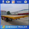 3 Axles 40FT Container Used Flatbed Semi Trailer