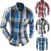 Men′s Flannel Plaid Slim Fit Long Sleeve Sublimation Shirts