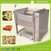industrial stainless steel brush type potato washing peeling machine