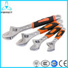 European Type Adjustable Wrench with Plastic Handle