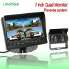 "7"" Quad Monitor Rearview Camera System"