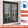 Double Glazed Sliding Commercial Aluminum Window