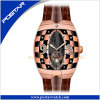 OEM China Factory Luxury Fancy Watch with Genuine Leather Band