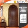 Round-Top Solid Pine Wood Customized Hinged Door Interior Wooden Door, Beautiful Rount-Top Wooden Hinged Door