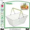 Popular Sell Double Handle Metal Shopping Basket