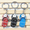 Souvenirs-Alloy Slippers Enamel Keychain for Las Vegas