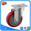Top Swivel Plate Ball Bearing PU Wheel Caster