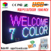 "P13 Outdoor 15′′x 40"" Full Color Programmable LED Sign Text Scrolling Message Board"