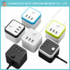 Design Traveling Universal Electric Cube Power Socket with 3 USB