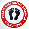 Easily Removable Custom Logo/Size Waterproof PVC Social Distance Floor Stickers