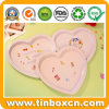 Heart Shape Metal Food Tin Tray for Candy Fruit Cookies
