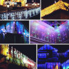 China Supplier 6*3m 600LED Curtain Light Width 25LED/ Drop String Total 24PCS Strings for Outdoor Christmas/Party Use