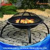3-Feet Portable Camping Steel Round Grill BBQ Charcoal Fire Pit