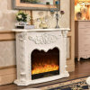 Antique Hotel Furniture Heating Electric Fireplace with LED (338)