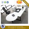 White Color Round Coffee Table Attached Executive Office Table (NS-ND028)