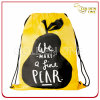 Creative Design Printed Nylon Drawstring Bag