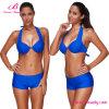 Royal Blue Wireless Plus Size Sexy Mature Bikini Swimwear