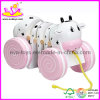Wooden Toy for Girl,White and Pink Color (W05B025)