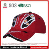 Flat Embroidery 100% Cotton Twill Adults Red Baseball Cap Racing Cap