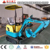 Garden Farm Mini Skid Track Excavator Loader, 0.8 Ton Crawler Hydraulic Digger, Mini Excavator for Sale