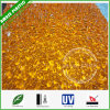 Gold Wholesale Plastic Panel Hard Coated Polycarbonate Big Diamond Embossed Sheet