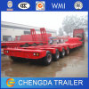4 Axles Low Bed Trailer Lowboy Trailer 100 Ton