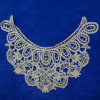 Golden Silk Embroidery Lace Collar for Garments (YJC8533-7)