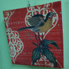 Red Background Bird on The Flowers Painting Picture (LH-240000)