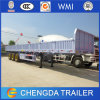 Shandong 3-Axle Flatbed Semi Trailer with Side Guard for Sale