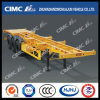 Cimc Huajun 3axle High Tensile Steel Light-Type Skeleton Trailer with 40tons Capacity