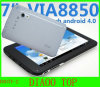 7'' Via8850 Dual Camera Android 4.0 HDMI Dual USB Port Thin Tablet PC (D007V-2)